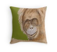 Orang Utan in colour Throw Pillow