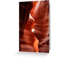 Antelope Canyon - Sandy Stripe Greeting Card