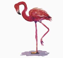Watercolor Flamingo One Piece - Short Sleeve