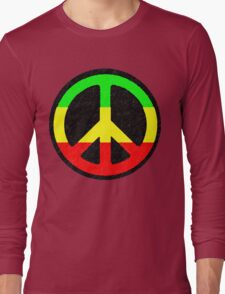 Rasta Peace Sign Long Sleeve T-Shirt