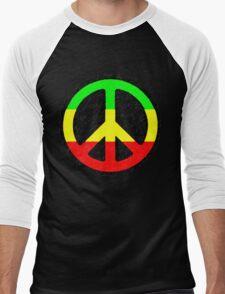 Rasta Peace Sign Men's Baseball ¾ T-Shirt