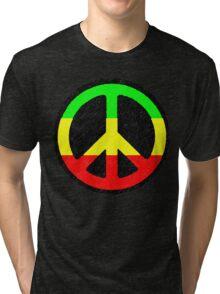 Rasta Peace Sign Tri-blend T-Shirt