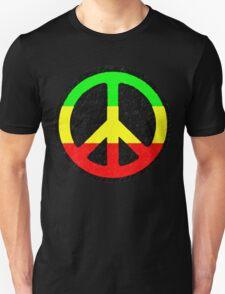 Rasta Peace Sign Unisex T-Shirt
