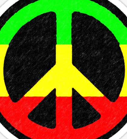 Rasta Peace Sign Sticker