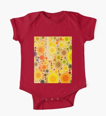 vivid summer country sunflower circles yellow bubbles One Piece - Short Sleeve