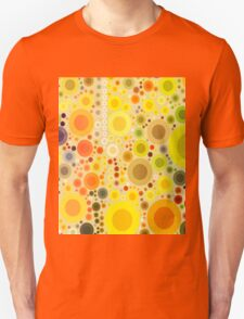 vivid summer country sunflower circles yellow bubbles Unisex T-Shirt