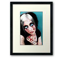 vampire eyes doll 2 Framed Print
