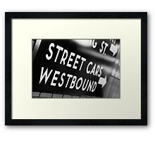Street Cars Westbound Framed Print
