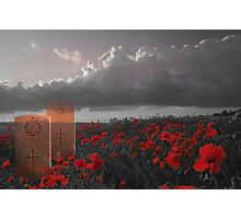 We must never forget - In Honour of Armistice Day Photographic Print