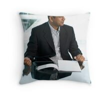 At the office 2 Throw Pillow
