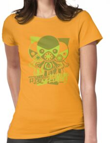 Monster Mascot Stencil Womens Fitted T-Shirt
