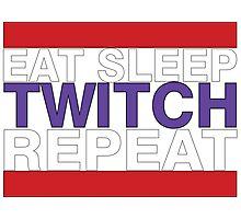 Eat Sleep Twitch Repeat v2 Photographic Print