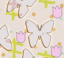 Butterfly and tulips Sticker