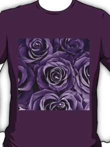 Rose Bouquet in Purple T-Shirt