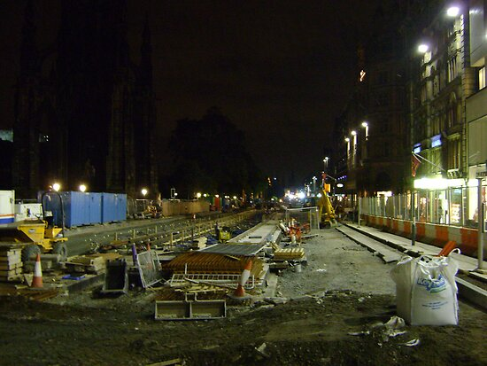tramline construction by armadillozenith