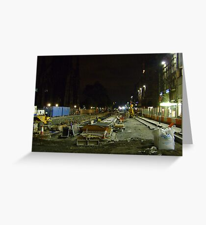 tramline construction Greeting Card