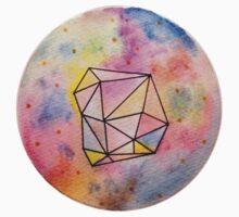 Geometric Watercolor Baby Tee