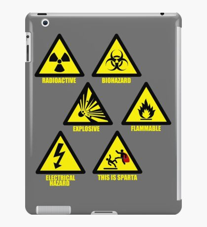 Warning Signs iPad Case/Skin