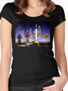 THE HOLY HOOPS OF HELL Women's Fitted Scoop T-Shirt