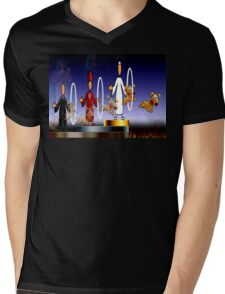 THE HOLY HOOPS OF HELL Mens V-Neck T-Shirt