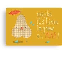 melodramatic pear Canvas Print