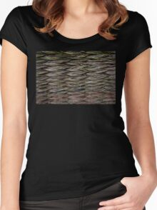 Knitted Fence in Etara, Bulgaria Women's Fitted Scoop T-Shirt