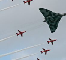 Avro Vulcan Escorted by the Red Arrows Sticker