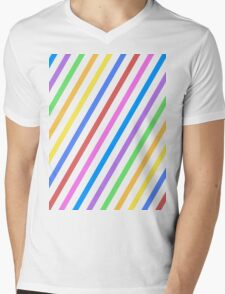 Purple Yellow Blue Black trippy stripes Mens V-Neck T-Shirt