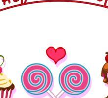 Love is like full box of sweetness Sticker