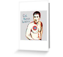 Captain America: God Bless America Greeting Card