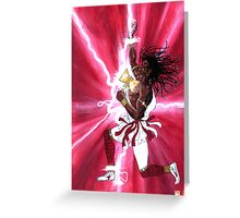 CHANGO - Orisha of Thunder & Lightning Greeting Card