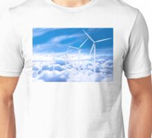 Wind Turbines in the sky Unisex T-Shirt