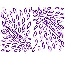Passionately Purple - Lovely  Leaves Photographic Print