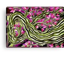 PINK LEAVES ON A LIMB Canvas Print