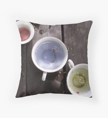 Pink, Blue and Yellow! Throw Pillow