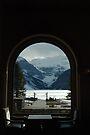 Window Frame - Lake Louise Window Series by Barbara Burkhardt