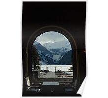 Window Frame - Lake Louise Window Series Poster
