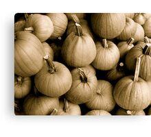 Denim Commercial Pumpkins Canvas Print