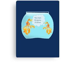 There Were Two Goldfish In A Tank Canvas Print