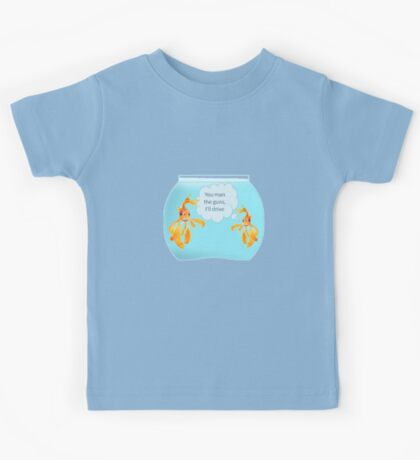 There Were Two Goldfish In A Tank Kids Tee