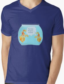 There Were Two Goldfish In A Tank Mens V-Neck T-Shirt