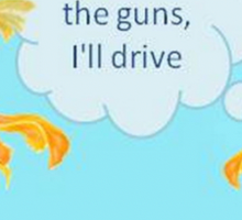 There Were Two Goldfish In A Tank Sticker