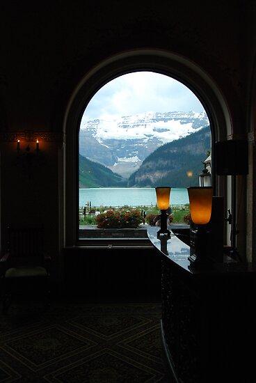 Warmth Within - Lake Louise Window Series by Barbara Burkhardt