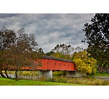 Ontario's Covered Bridge Photographic Print