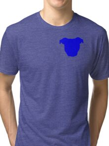 Blue Pittie Tri-blend T-Shirt