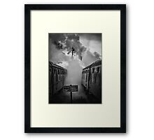And in a puff of smoke, they went into history Framed Print
