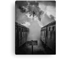 And in a puff of smoke, they went into history Canvas Print