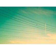 Rockets through the Wires Photographic Print