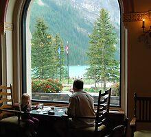 Quality Time - Lake Louise Window Series by Barbara Burkhardt