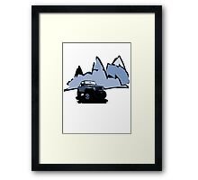 Jeeping It!: BLUE Framed Print